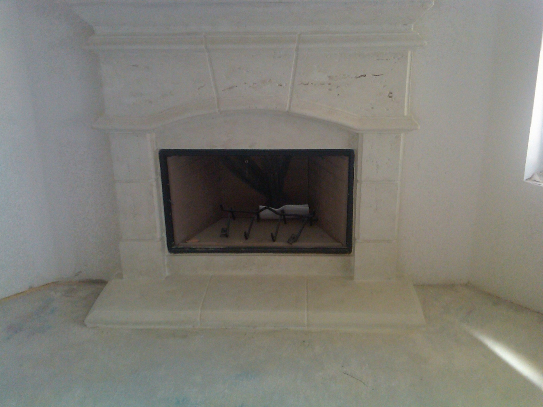 Fireplace and mantle installed