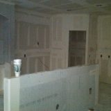 Kitchen getting sheetrock