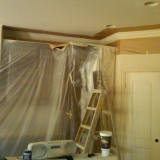 During Painting - Living Room