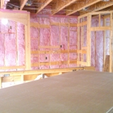 Insulation is installed